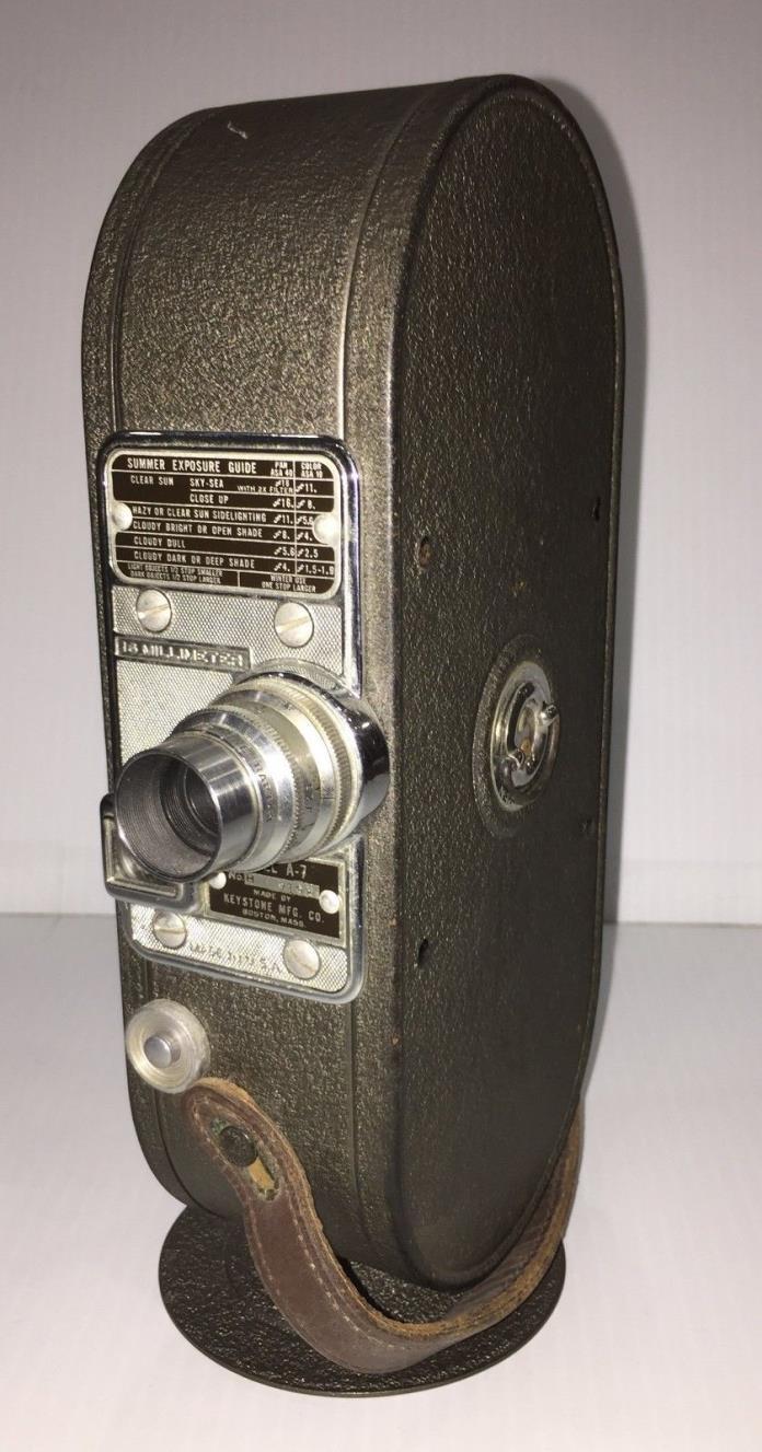 Vintage Keystone A-7 16mm Film Movie Camera