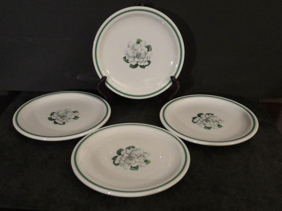 Syracuse China Whitfield Magnolia Gardenia 4 plates 7.25