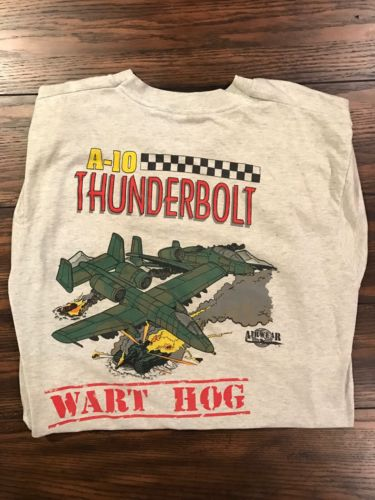 vintage screen stars best vtg A10 warthog airwear tee L