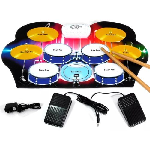 Roll Up Portable 9 Pad Electric Drum Set Kit M312