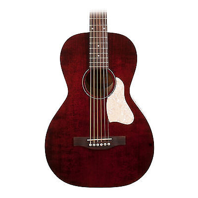 Art and Lutherie Roadhouse Parlor Tennessee Red Acoustic Electric Guitar