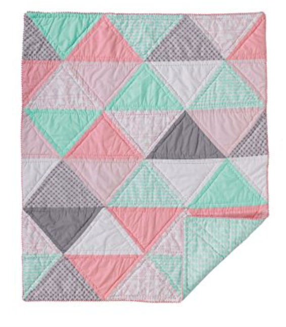 NEW Lolli Living Sparrow Cotton Filled Baby Comforter, Triangle, Quilt Nursery