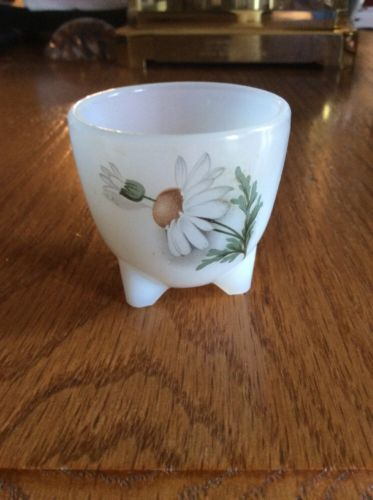 Vintage Fluted White Glass Egg Holder