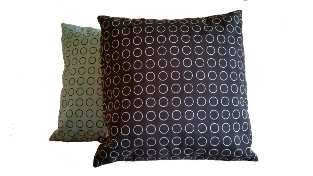 2 Pillow Covers Repeat Dot Ring by Hella Jongerius Robin Blue 462150–006 - B4