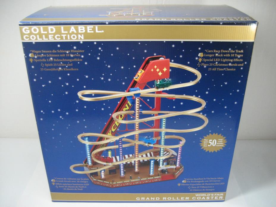 Mr. Christmas Gold Label Collection World's Fair Grand Roller Coaster New In Box