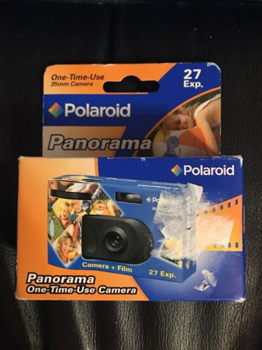 New Unopened Polaroid Panorama One Time Use Camera 27 Exp. 02/07