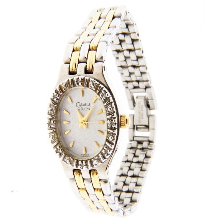 Caravelle Bulova Diamond Watch 15mm 6.25 in.