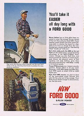 1963 Advertisement - FORD 6000 5 PLOW TRACTOR