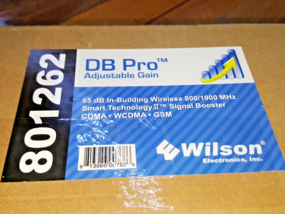 Wilson DB Pro 65dB Adjustable Gain 800/1900MHz Wireless Signal Booster CDMA GSM