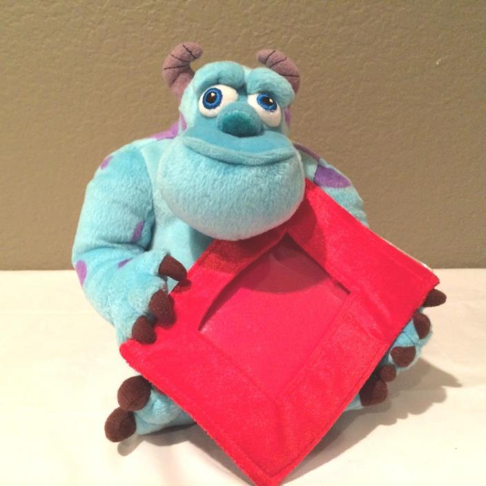 Monsters Inc Sully Plush Doll Toy holding a Red Frame The Disney Store 10