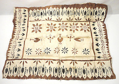 Vtg Pacific Polynesian Island Hawaiian Fiji Tapa Bark Cloth 39