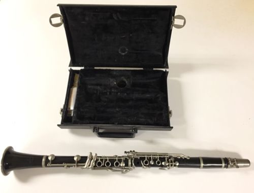 vintage normandy clarinet with carrying case