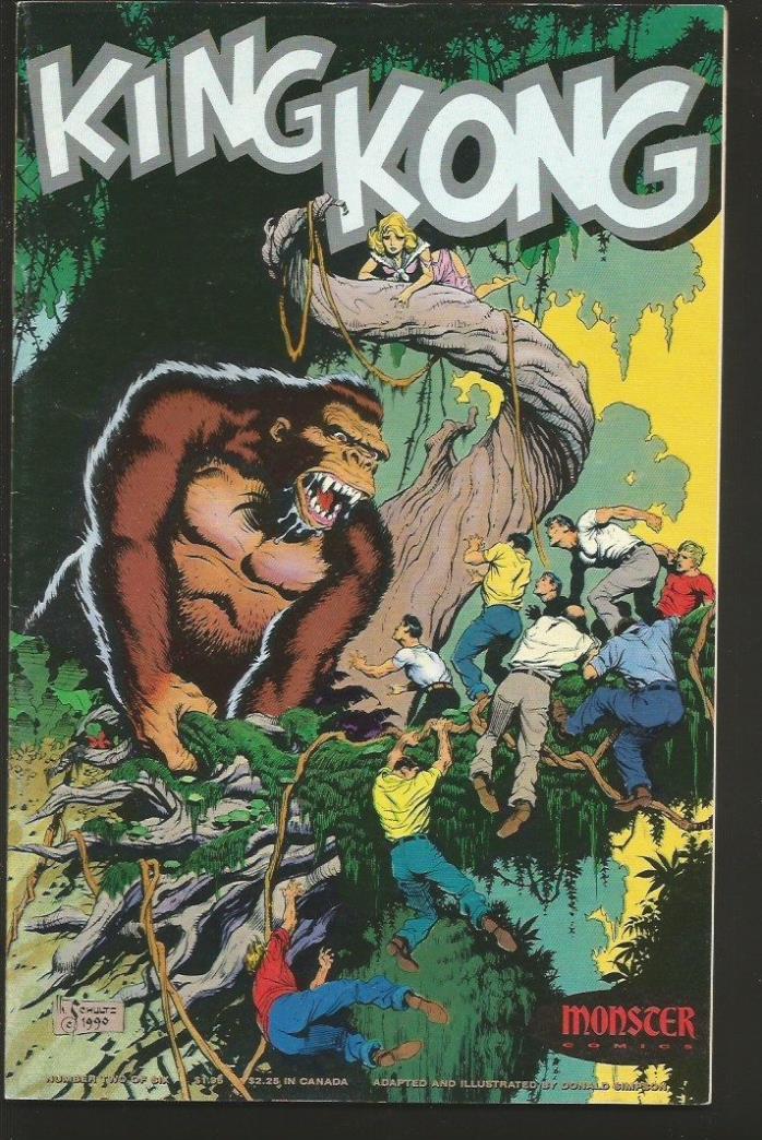 KING KONG #2 Don Simpson Monster Comics Shultz Cover B&W 1991