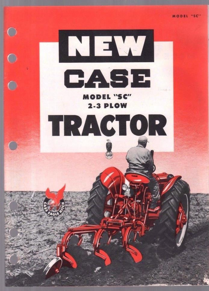 1953 CASE TRACTOR SC PLOW BROCHURE ORIGINAL