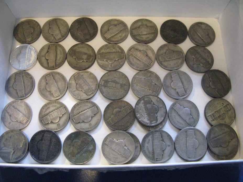 1 roll 40 plus Silver War Nickels
