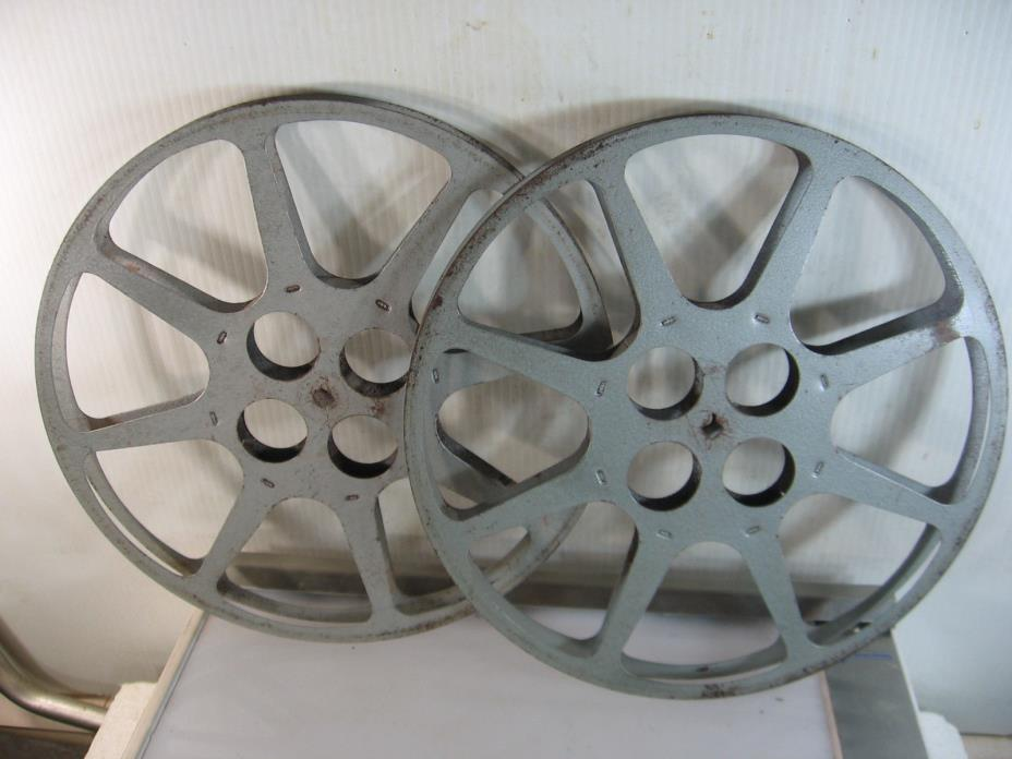2 16mm metal take up reels, 12 1/4