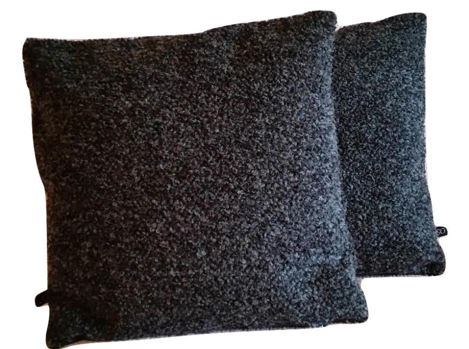2 Mid Century Modern Pillow Covers Designtex Biba Black Magic Boucle - B3