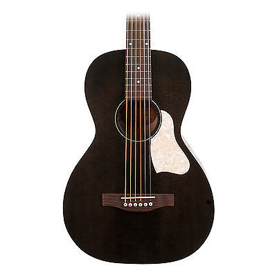 Art and Lutherie Roadhouse Parlor Faded Black Acoustic Electric Guitar