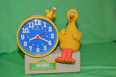 sesame street big bird talking alarm clock bradley collectable keeps time tics