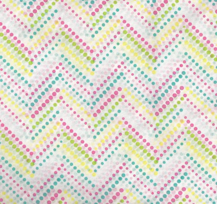 Bright Dots -- Lime, Yellow, Aqua, Pink ChevronTissue Paper  #463 - 10 Sheets