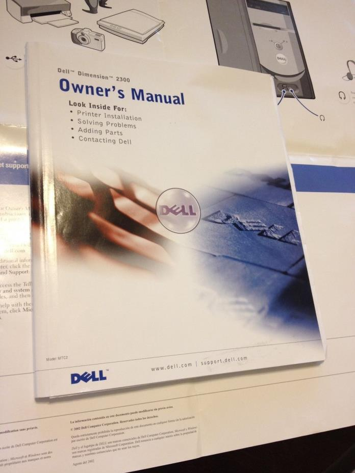 DELL DIMENSION 2300 Owner's Manual 128 PAGES Hard to Find