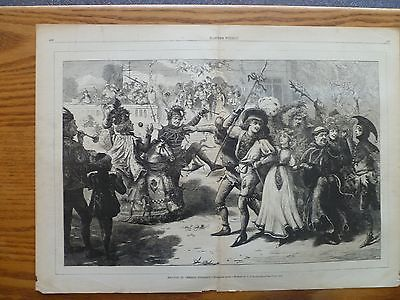 May Day Celebration-1874-Double page-Harper's Weekly Newspaper by Staniland