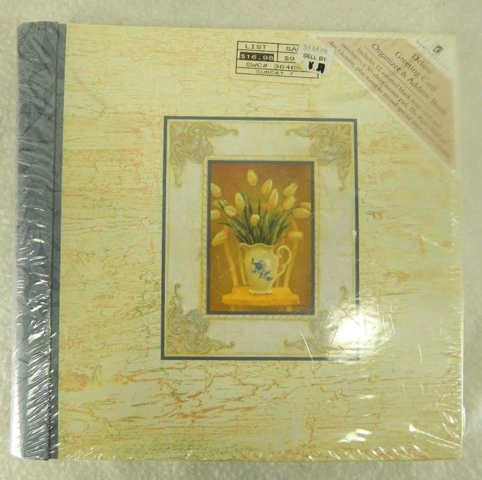 NEW SEASONS DELUXE GREETING CARD ORGANIZER & ADDRESS BOOK (NEW)