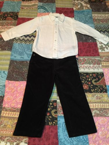 Boys 4T Calvin Klein Holiday Outfit Pictures Formal Wedding Blk/White Shirt $100
