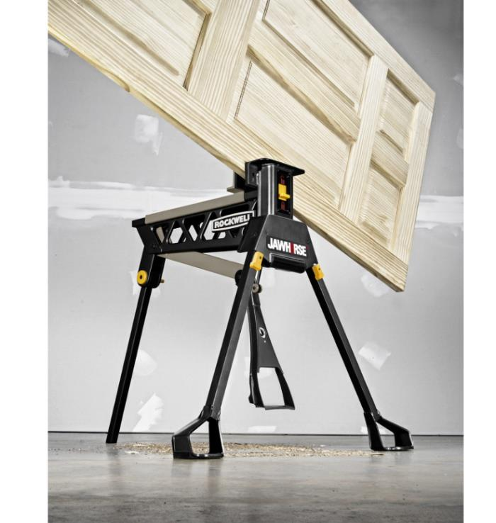 Sawhorse 37-in Steel Saw Horse Work Benches Tool Stands Power Tools Table Black