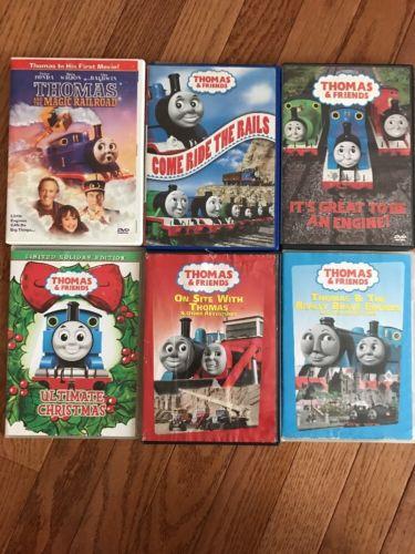 Lot (6) Thomas The Train DVD Movies Thomas & Friends Magic Railroad Xmas