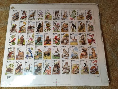 1987 NORTH AMERICAN WILDLIFE US POSTAGE STAMP - MINT SHEET UNHINGED
