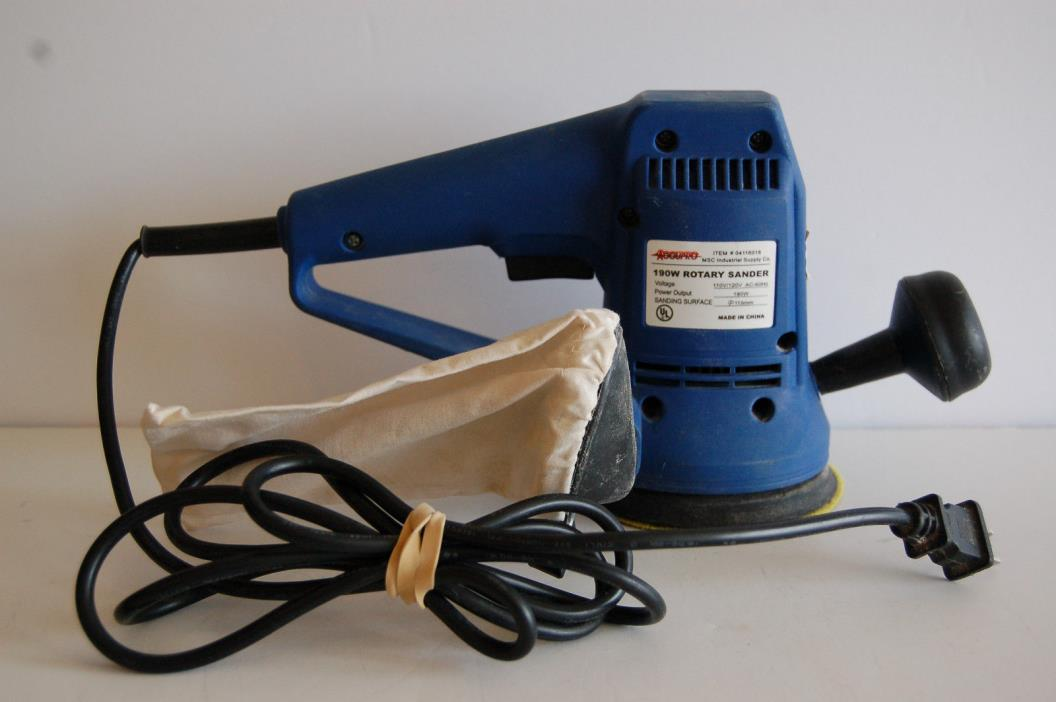Accupro rotary hand sander msc industrial supply co 4 1/2 inch disc