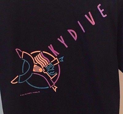Black Skydiving Skydive T Shirt Skydiving Lunatic