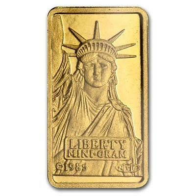 Credit Suisse Statue of Liberty 1 gram .9999 Fine Gold Bar in Assay