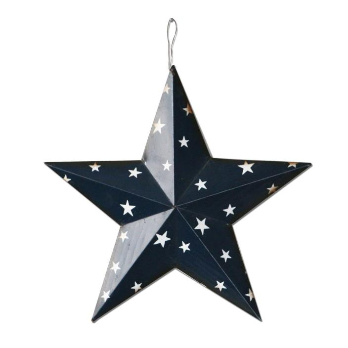 Rustic Americana Patriotic Wall Decor Star Wall Barn Metal 3D Stars July 4th