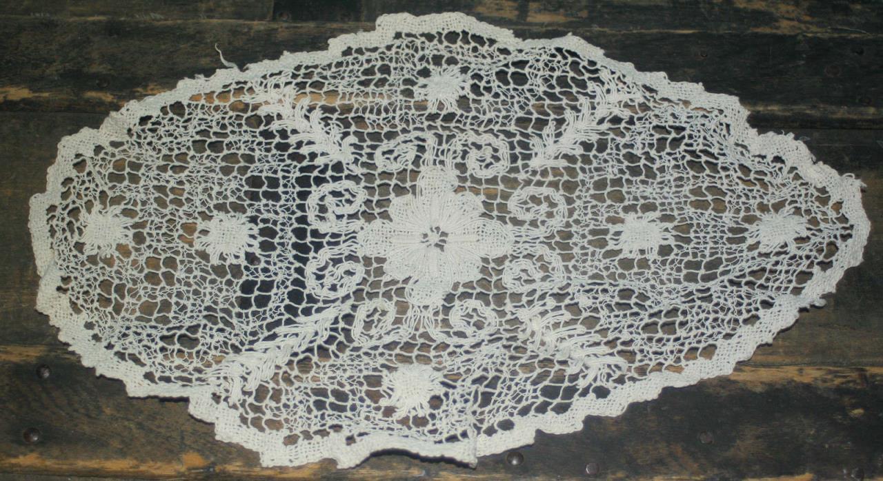 Vintage Lace Doily Cream 13