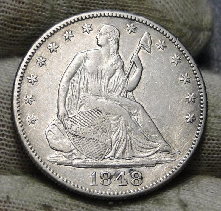 1848-O Seated Liberty Half Dollar 50 Cents.  Nice Old Coin Free Shipping (5843)
