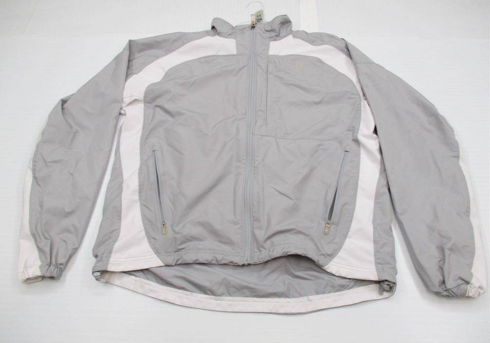 THE NORTH FACE #J7613 Men's Size L Hiking FLIGHT SERIES Full Zip Gray Jacket