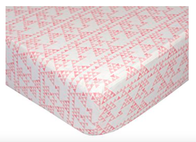 NEW Lolli Living Sparrow Fitted Sheet - Mesa - Nursery Baby Bedding Pink