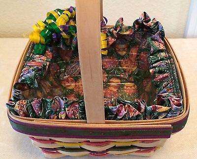 Longaberger 1998 Easter Basket, Liner & Protector