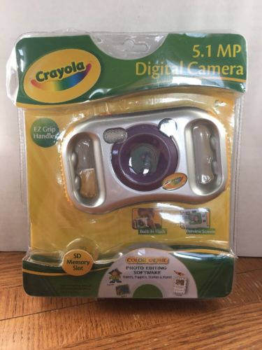 Crayola Digital Kids Camera -Purple/Silver - 5.1 MP, Color Genie Activity Center
