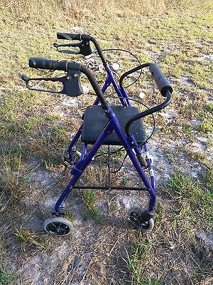 Rollator Walker with Seat wheelchair. Rolling 7.5