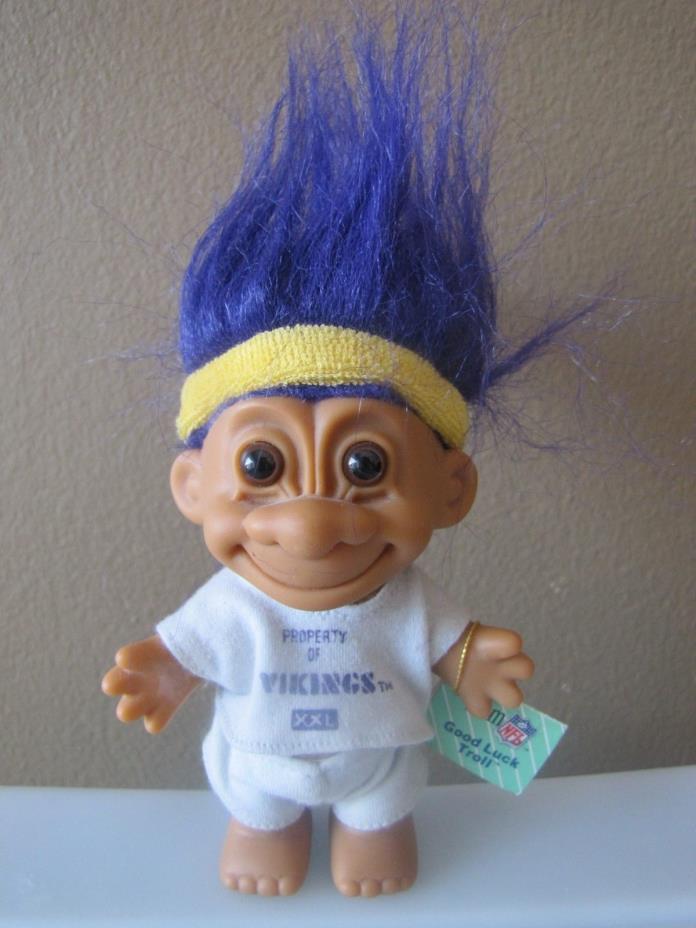 1991 Russ Minnesota Vikings Good Luck Troll Doll