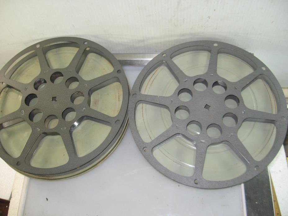 2 16mm metal take up reels, 10 1/2