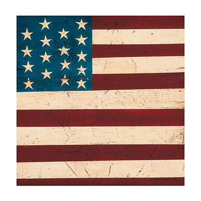 Colonial Flag Absorbastone Trivet Decorative Stoneware Trivet STARS and STRIPES