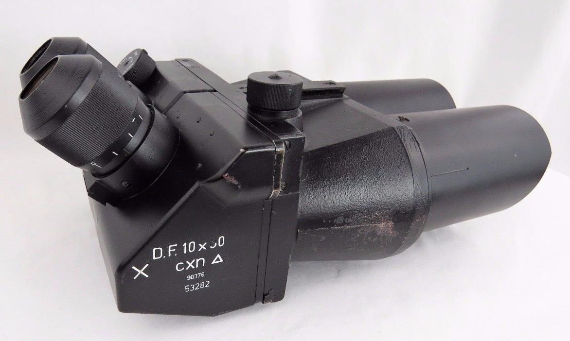 RARE! WW2 German 10x80 Flak Binoculars Emil Busch AG CXN Doppelfernrohr CLEAR!