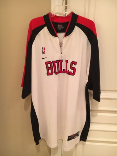 2005-06  Game Worn Chicago Bulls Warm-Up Jersey NBA Nike!! 3XL