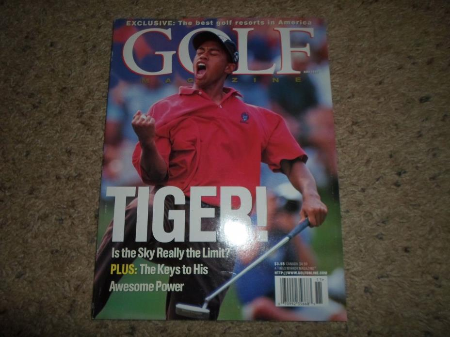 November 1996 GOLF Magazine Tiger Woods Very Nice