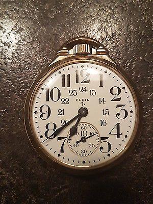 Elgin 1951 Railroad Grade 571 21j Canadian Dial Pocket Watch Not Working