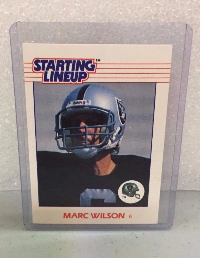 1988 Starting Lineup Football -  Marc Wilson  - NM